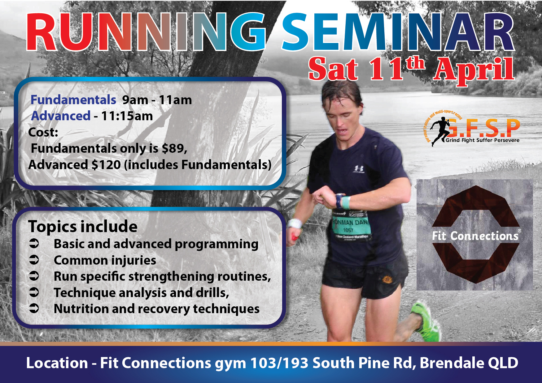Running Seminar – Advanced 11 April